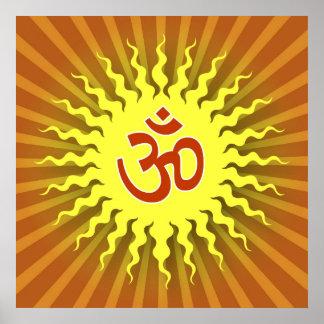 Spiritual Om Symbol Poster