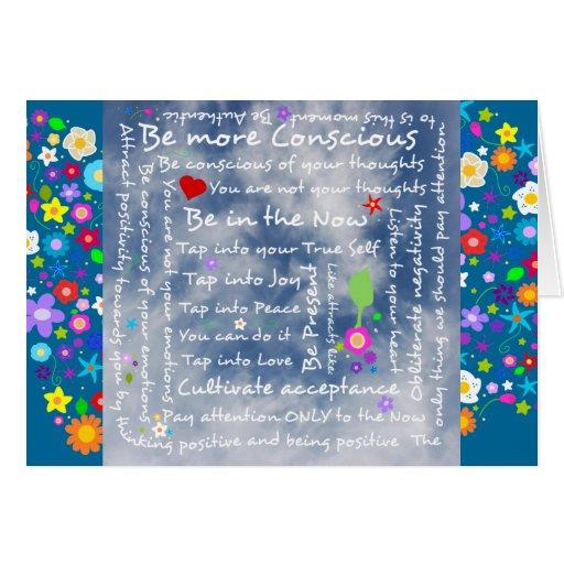 Spiritual positive affirmations greeting card