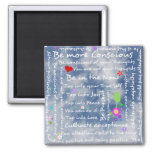 Spiritual positive affirmations square magnet