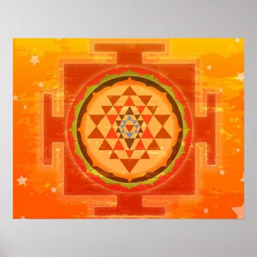 Spiritual Shree Yantra Posters