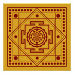 Spiritual Sri Yantra Poster