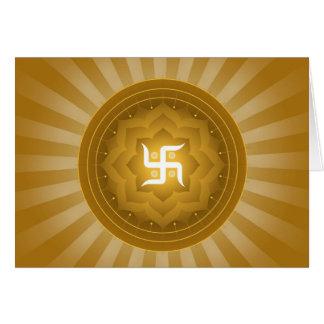 Spiritual Swastika Design Card