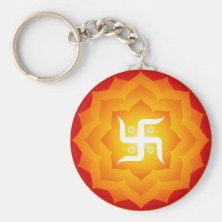 Spiritual Swastika Key Ring