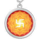 Spiritual Swastika Silver Plated Necklace