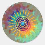 Spiritual Tyedye Round Sticker