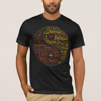 Spiritual Yin Yang Word Art T-Shirt