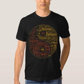 Spiritual Yin Yang Word Art T-shirts