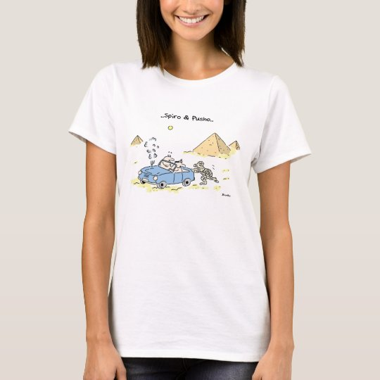 Spiro & Pusho Travel Cartoon T-Shirt