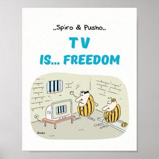 Spiro & Pusho TV Quotes Cartoons Poster 8x10
