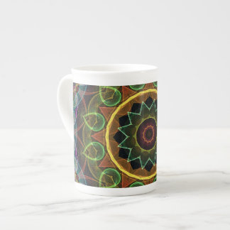 spirograph egg shaped leaves bone china mug