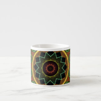 spirograph egg shaped leaves espresso mug
