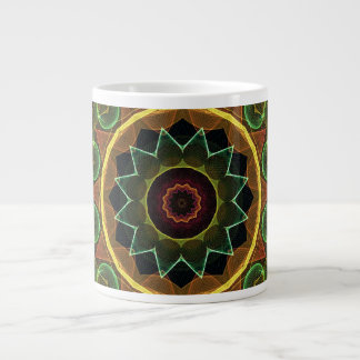 spirograph egg shaped leaves jumbo mug
