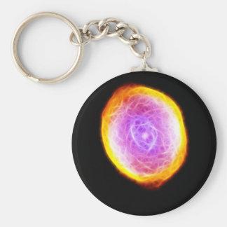 Spirograph Nebula Keychain