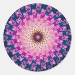 Spirograph Round Stickers