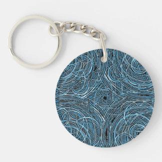 Spirograph Single-Sided Round Acrylic Key Ring