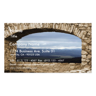 Spis Castle Largest Castle Of Central Europe View Pack Of Standard Business Cards
