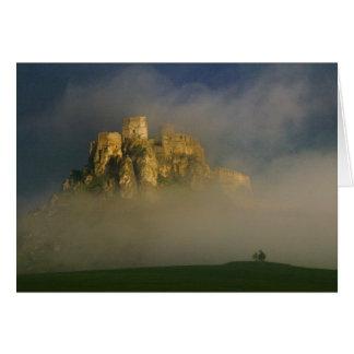 Spissky hrad in mist, Slovakia 2 Card