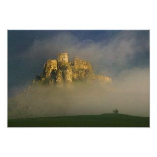 Spissky hrad in mist, Slovakia 2 Photo