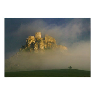Spissky hrad in mist, Slovakia 2 Photographic Print