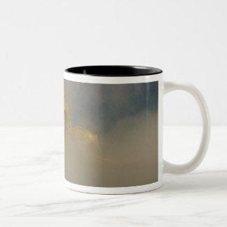 Spissky hrad in mist, Slovakia 2 Two-Tone Coffee Mug