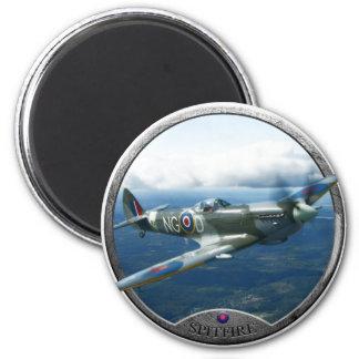 Spitfire 6 Cm Round Magnet