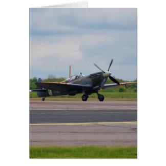 Spitfire After Landing Card