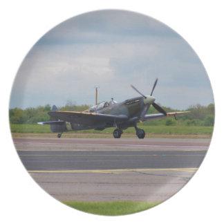 Spitfire After Landing Plate