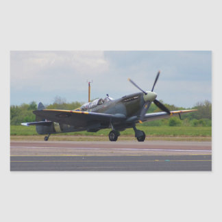 Spitfire After Landing Rectangular Sticker