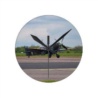 Spitfire After Landing Round Clock