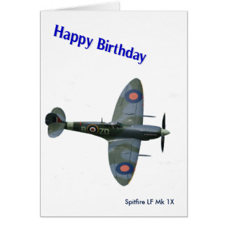 Spitfire Aircraft image for Birthday-greeting-card Card