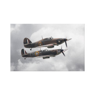 Spitfire and Hurricane Canvas Print