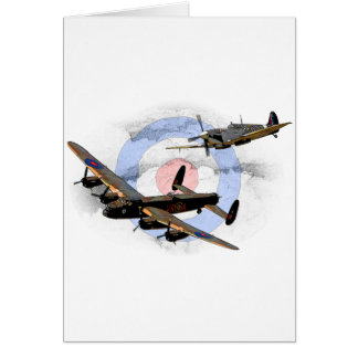 Spitfire and Lancaster Card