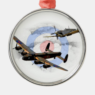 Spitfire and Lancaster Christmas Ornament