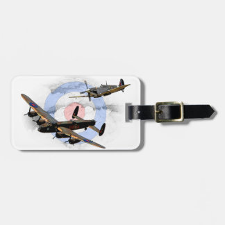 Spitfire and Lancaster Luggage Tag