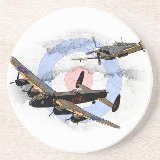 Spitfire and Lancaster Sandstone Coaster