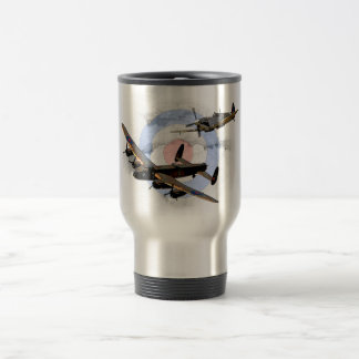 Spitfire and Lancaster Stainless Steel Travel Mug