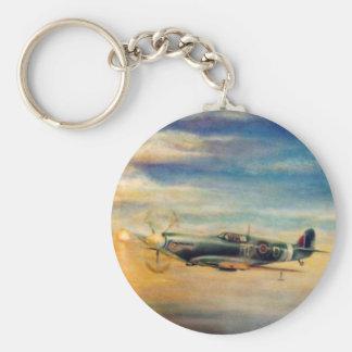 Spitfire Basic Round Button Key Ring
