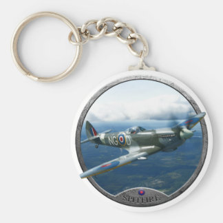 Spitfire Basic Round Button Key Ring
