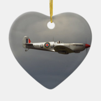 Spitfire Ceramic Heart Decoration