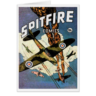 Spitfire Fighter Aircraft - World War Two Note Card