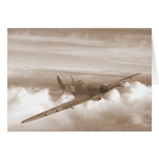 Spitfire Heading Home Card