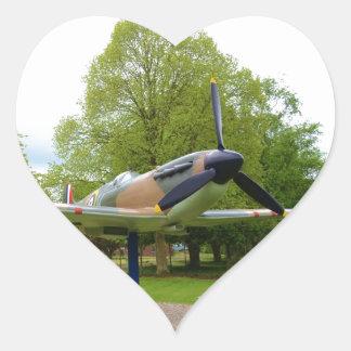 Spitfire Heart Sticker