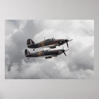 Spitfire Hurricane Poster