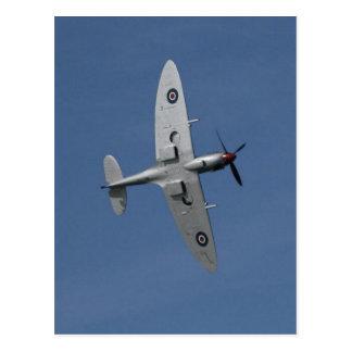 Spitfire In Flight. Postcard