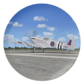 Spitfire Mk7 Fighter Plane Plate