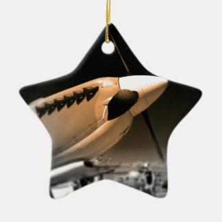 Spitfire Mk 1A aircraft Christmas Ornament