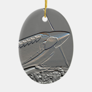 Spitfire Mk 1A aircraft embossed Christmas Ornament
