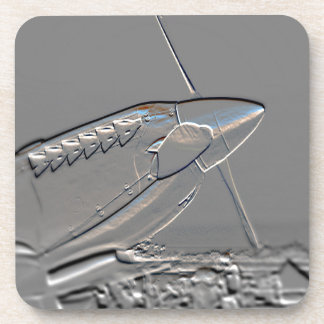 Spitfire Mk 1A aircraft embossed Coasters