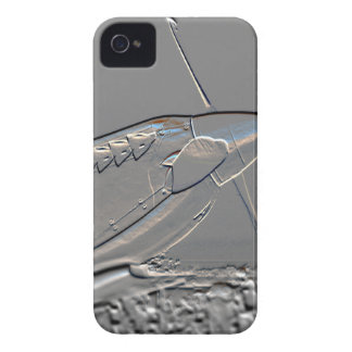 Spitfire Mk 1A aircraft embossed iPhone 4 Cases