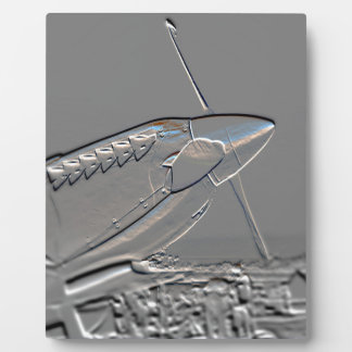 Spitfire Mk 1A aircraft embossed Plaque
